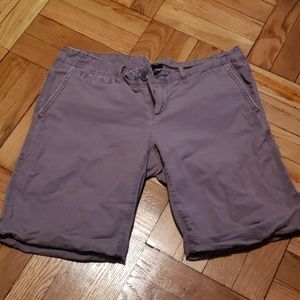 Purple-ish Gray Bermuda Shorts